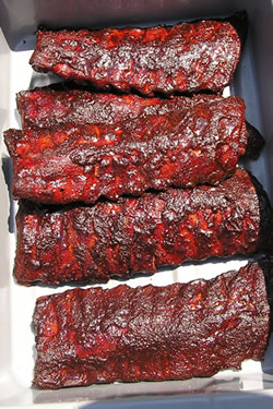 bbq ribs smoked tasty red